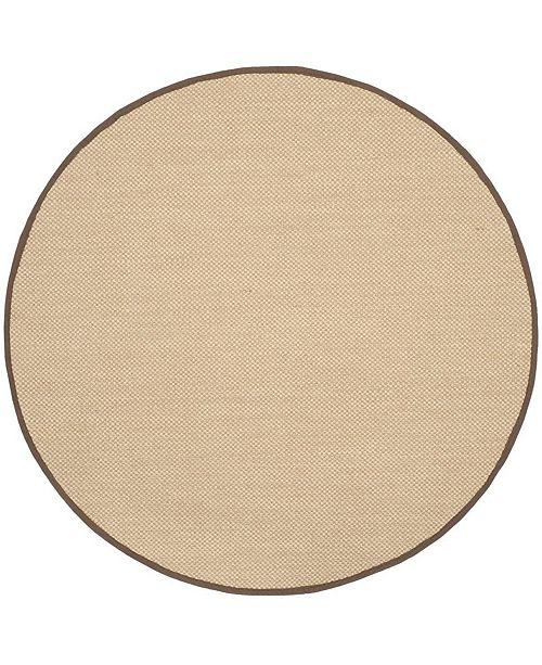 Safavieh Natural Fiber Maize and Brown 6' x 6' Sisal Weave Round Area Rug