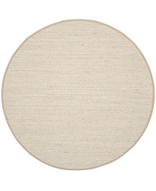 Safavieh Natural Fiber Marble and Linen 6' x 6' Sisal Weave Round Area Rug