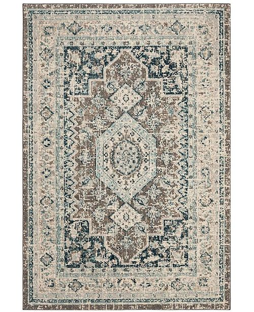 "Safavieh Phoenix Gray and Blue 5'1"" x 7'6"" Area Rug"