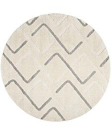 "Safavieh Olympia Cream and Gray 6'7"" x 6'7"" Round Area Rug"