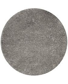 "Safavieh Polar Silver 6'7"" x 6'7"" Round Area Rug"