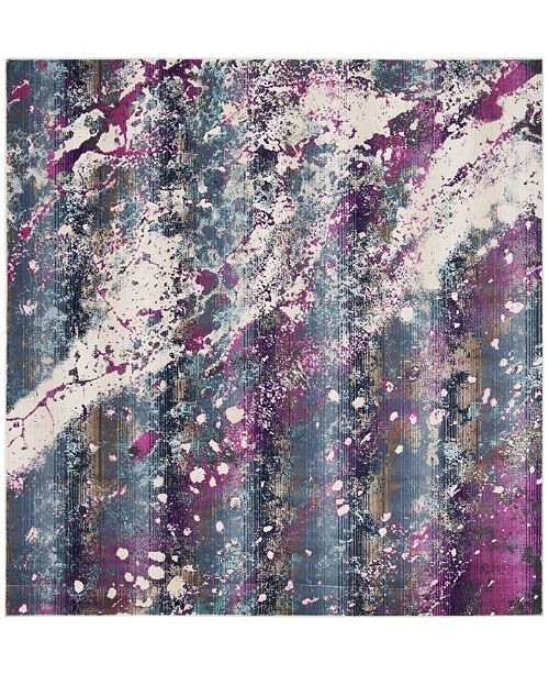 "Safavieh Radiance Teal and Magenta 6'7"" x 6'7"" Square Area Rug"