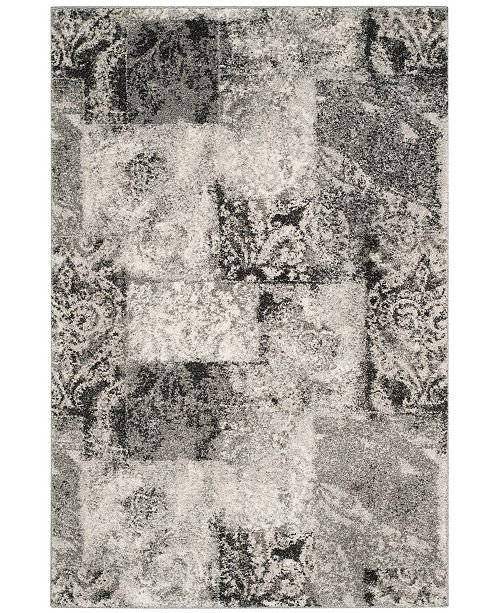 Safavieh Retro Cream and Gray 4' x 6' Area Rug