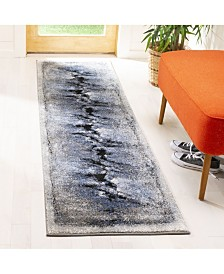 Safavieh Spirit Blue and Charcoal 2' x 8' Runner Area Rug