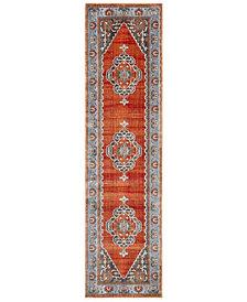 "Safavieh Vintage Persian Rust and Blue 2'2"" x 8' Area Rug"