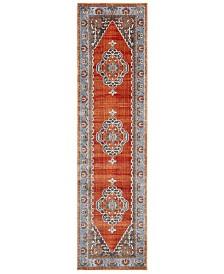 "Safavieh Vintage Persian Rust and Blue 2'2"" x 8' Runner Area Rug"