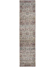 Aria Red and Creme 2' x 8' Runner Area Rug