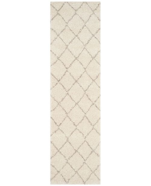 "Safavieh Arizona Shag Ivory and Beige 2'3"" x 8' Runner Area Rug"