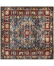 "Safavieh Bijar Brown and Royal 6'7"" x 6'7"" Square Area Rug"