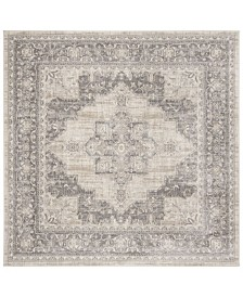 """Safavieh Brentwood Cream and Gray 6'7"""" x 6'7"""" Square Area Rug"""