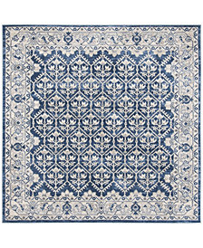 "Safavieh Brentwood Navy and Light Gray 6'7"" x 6'7"" Square Area Rug"