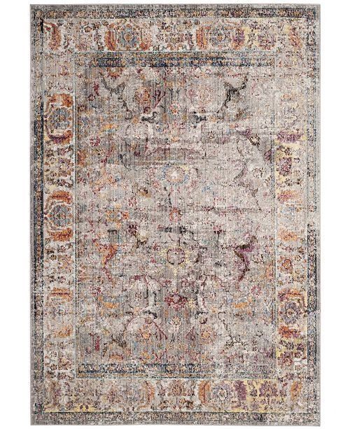 "Safavieh Bristol Gray and Light Gray 5'1"" x 7'6"" Area Rug"