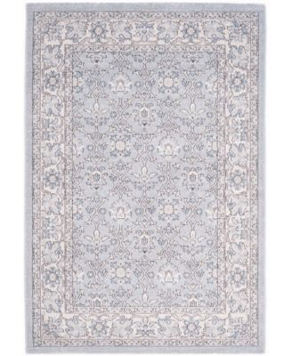 Carmel Light Blue and Ivory 4' x 6' Area Rug