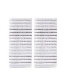 CLOSEOUT!  Tie Dye Stripe 2 Piece Hand Towel Set