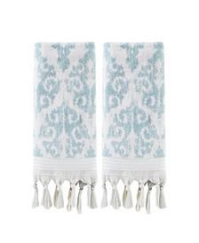 Mirage Fringe 2 Piece Hand Towel Set