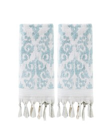 Mirage Fringe 2 Piece Hand Towel Set
