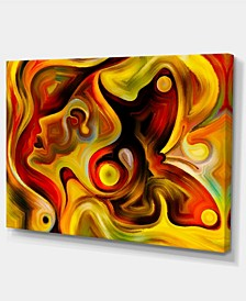 "Designart Butterfly'S Emotions Abstract Canvas Art Print - 32"" X 16"""