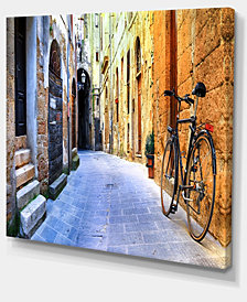 """Designart Pictorial Street Of Old Italy Cityscape Canvas Art Print - 40"""" X 30"""""""