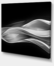 "Designart Glittering Silver Pattern Abstract Canvas Art Print - 40"" X 30"""