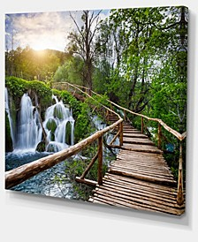"Designart Pathway In Plitvice Lakes Photography Canvas Art Print - 40"" X 30"""