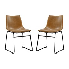 "18"" Faux Leather Dining Chair 2 Pack"