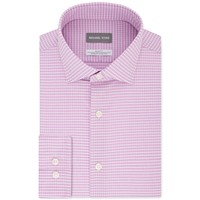 Michael Kors Men's Slim-Fit Non-Iron Performance Check Dress Shirt (Grape Soda / Blue Violet)