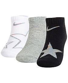 Nike Little Boys 3-Pack Lightweight Star Crew Socks