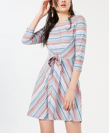 Be Bop Juniors' Printed Tie-Waist Dress