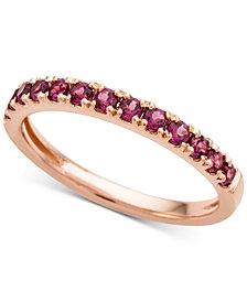 Rhodolite Garnet (1/2 ct. t.w.) Band Ring in 14k Gold