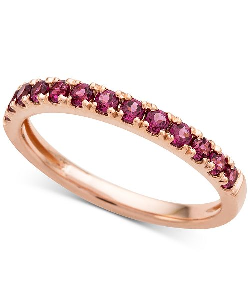 Macy's Rhodolite Garnet (1/2 ct. t.w.) Band Ring in 14k Gold
