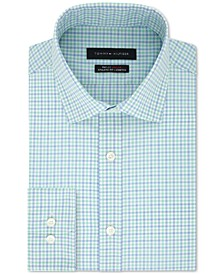 Men's TH Flex Fitted Non-Iron Stretch Check Dress Shirt