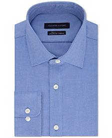 Tommy Hilfiger Men's Athletic Fit Performance Stretch TH Flex Collar Solid Dress Shirt
