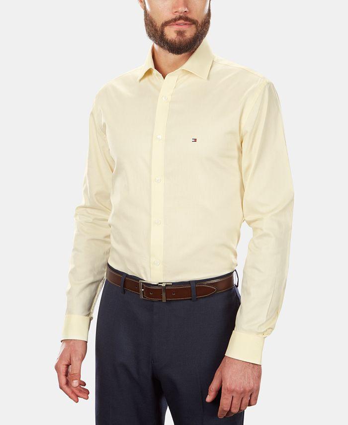 Tommy Hilfiger - Men's Slim-Fit Stretch Solid Dress Shirt