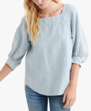 Lucky Brand Tops PUFF-SLEEVE PEASANT TOP