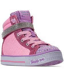 Skechers Little Girls' Twinkle Toes: Twinkle Lite - Beauty N Bliss High-Top Casual Sneakers from Finish Line