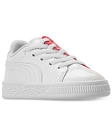 Puma Toddler Girls' Basket Crush Patent Casual Sneakers from Finish Line