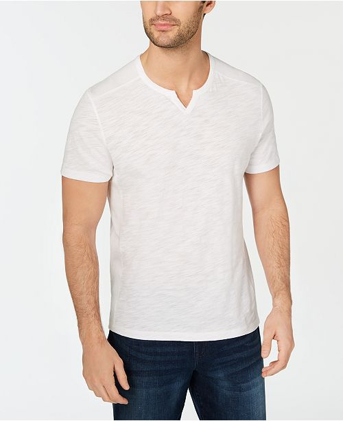 INC International Concepts INC Men's Ribbed Split Tee
