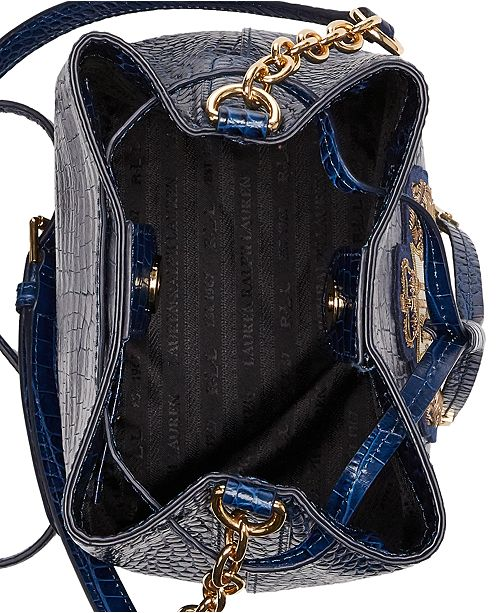 Lauren Ralph Lauren Mini Debby II Leather Drawstring Bag