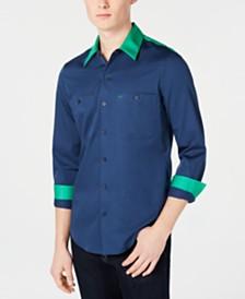 Calvin Klein Men's Slim-Fit Colorblocked Garage Shirt
