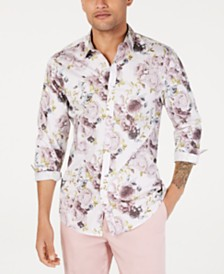 I.N.C. Men's Floral Print Shirt, Created for Macy's