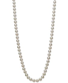 "Bell de Mer Cultured Akoya Pearl (7-7-1/2mm) 20"" Pearl Necklace in 14k Gold, Created for Macy's"