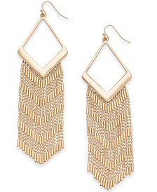 Gold-Tone Fringe Chandelier Earrings, Created for Macy's