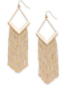 Thalia Sodi Gold-Tone Fringe Chandelier Earrings, Created for Macy's
