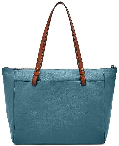 4387fbbfe28c Fossil Rachel Leather Tote With Zipper Reviews Handbags. Blue Leather  Handbag Women