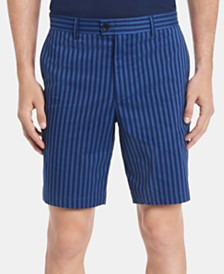 """Calvin Klein Men's Classic-Fit Performance Stretch Yarn-Dyed Stripe 9"""" Shorts"""