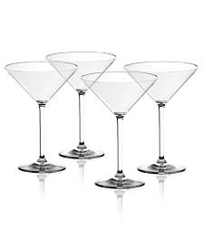TarHong Cocktail Classic Plastic Martini Glasses, Set of 4