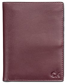 Calvin Klein Men's Leather Passport Case