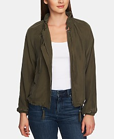 1.STATE Drawstring-Trimmed Soft Bomber Jacket