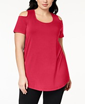 5ec0cca43 JM Collection Plus Size Cold-Shoulder Tunic, Created for Macy's