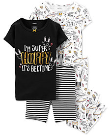 Carter's Baby Girls 4-Pc. Bunny Graphic Cotton Pajamas Set